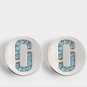 ⚪️ Marc Jacobs Double J Logo Pave Studs NWOT